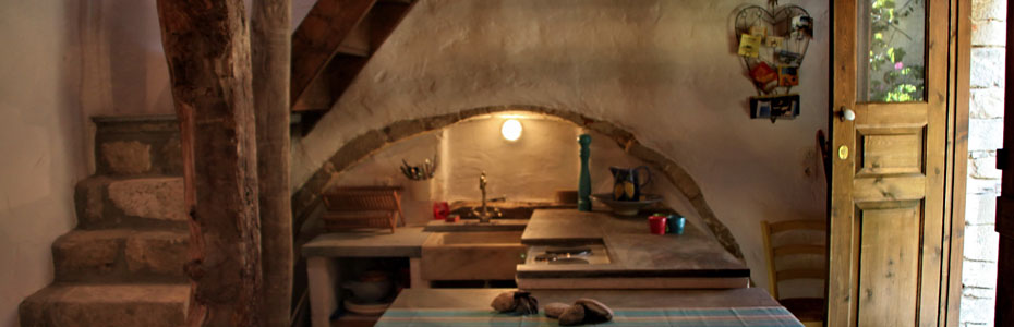 Traditional Cretan house interior arch | Kitchen